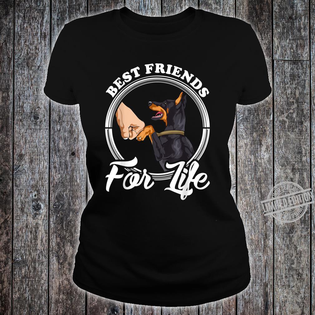 Dobermann Pinscher Best Friends for Life Shirt ladies tee