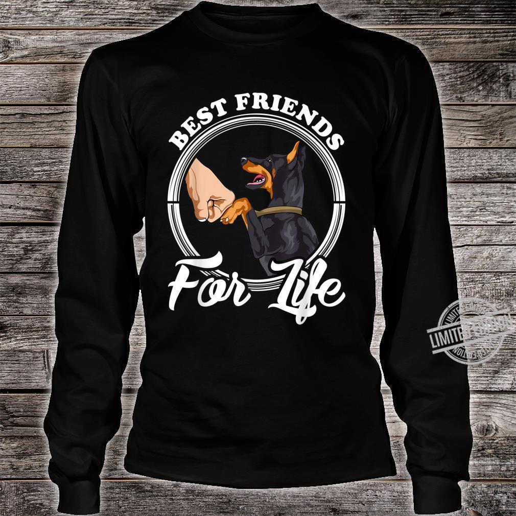 Dobermann Pinscher Best Friends for Life Shirt long sleeved