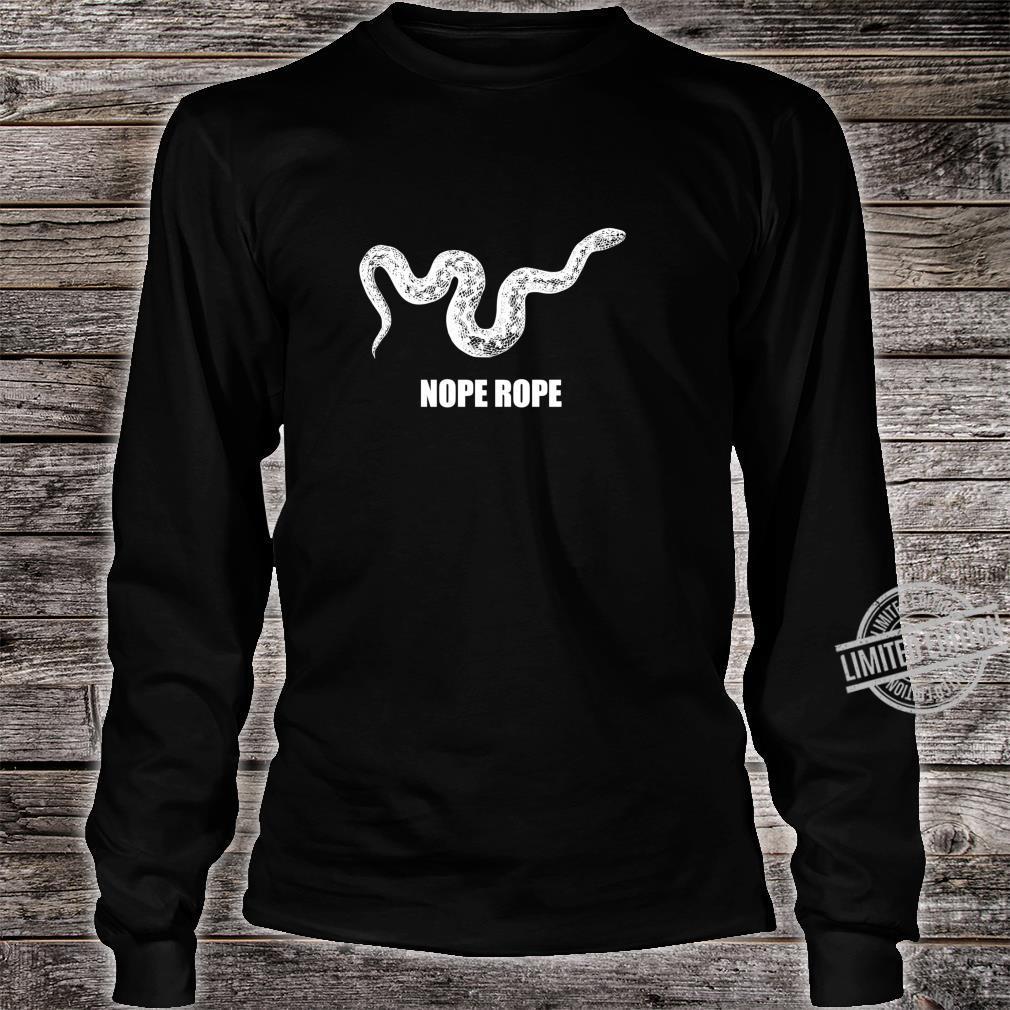 Nope Rope Snek Schlange Internet Meme Lustiges Tier der Welt Langarmshirt Shirt long sleeved