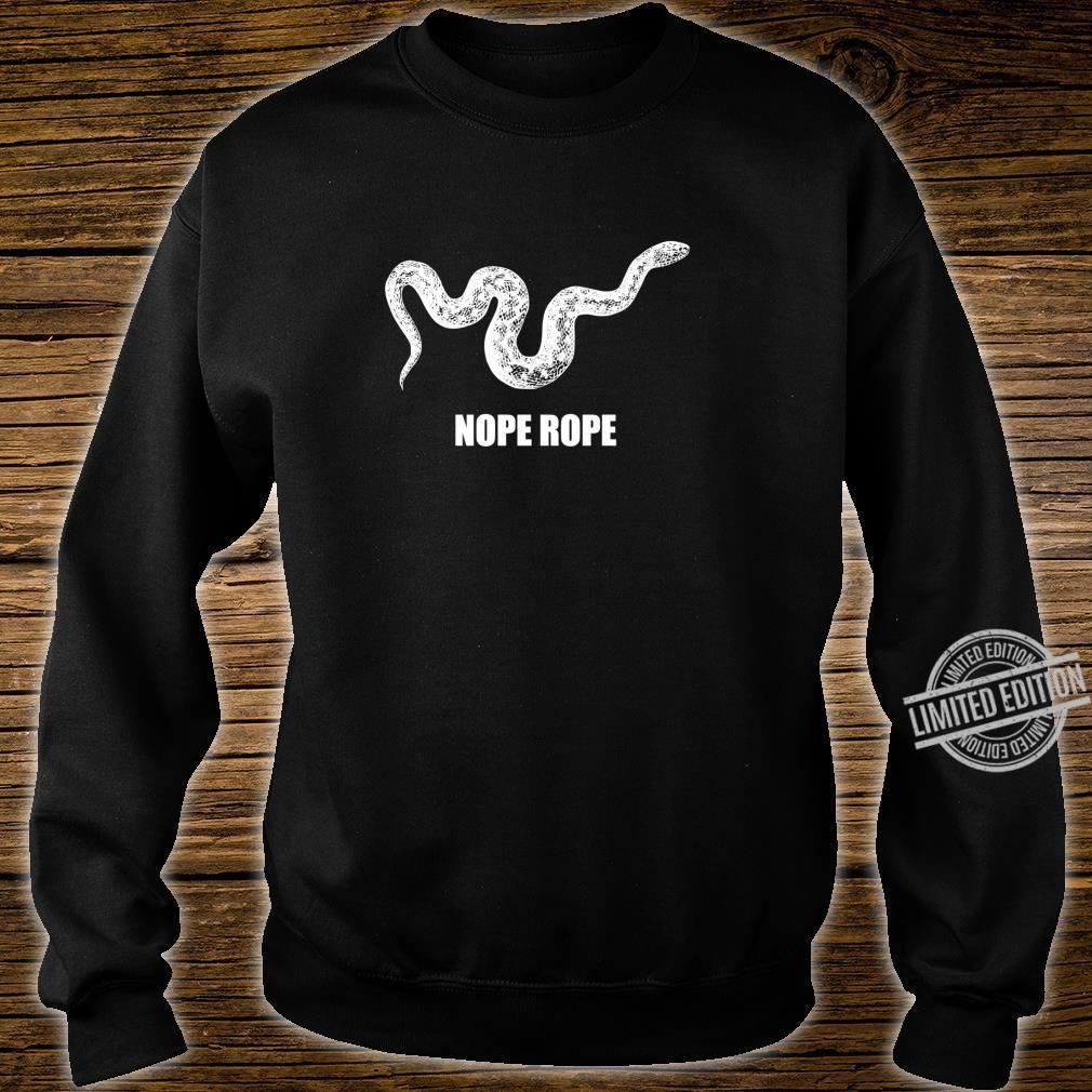 Nope Rope Snek Schlange Internet Meme Lustiges Tier der Welt Langarmshirt Shirt sweater