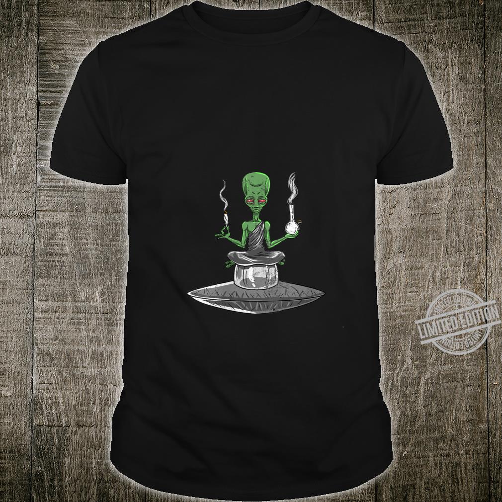 Womens Alien Smoker Bong ET 420 Space Weed Marijuana Shirt