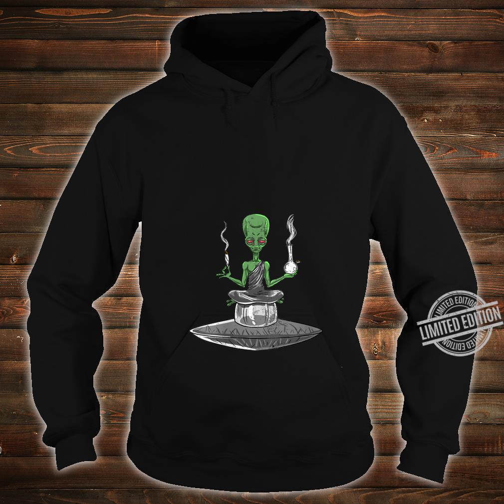 Womens Alien Smoker Bong ET 420 Space Weed Marijuana Shirt hoodie