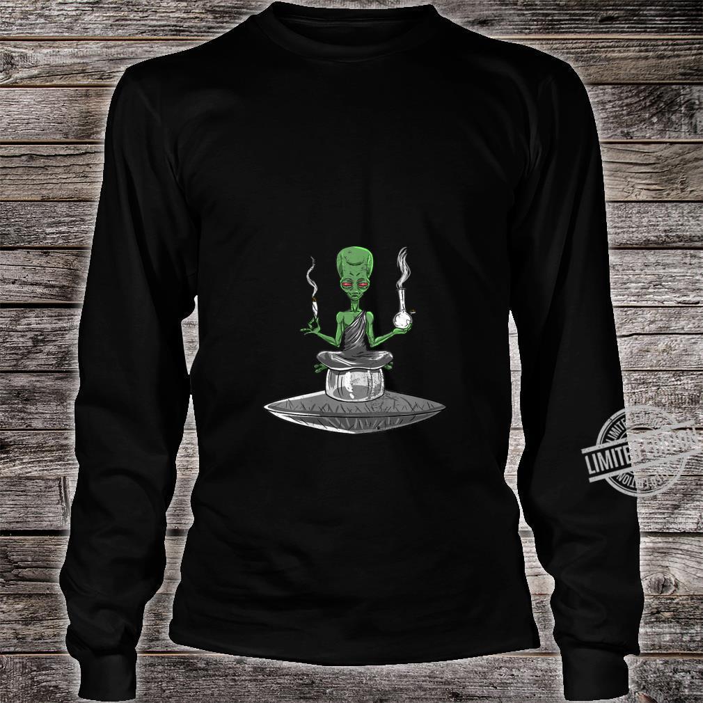Womens Alien Smoker Bong ET 420 Space Weed Marijuana Shirt long sleeved