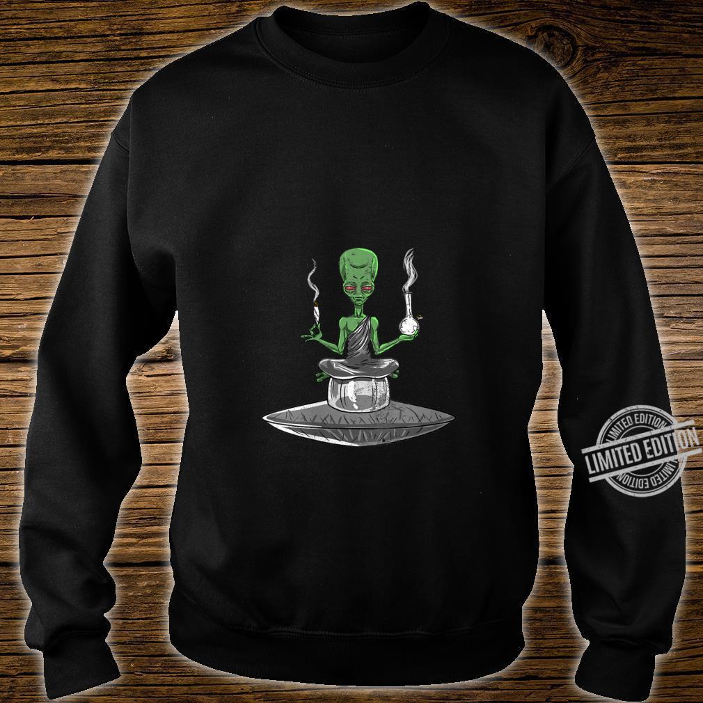 Womens Alien Smoker Bong ET 420 Space Weed Marijuana Shirt sweater