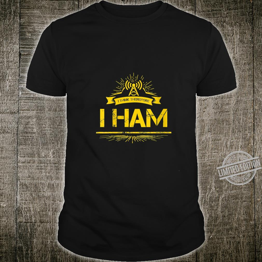 Womens Amateur Radio Pun Ham Operator Shirt