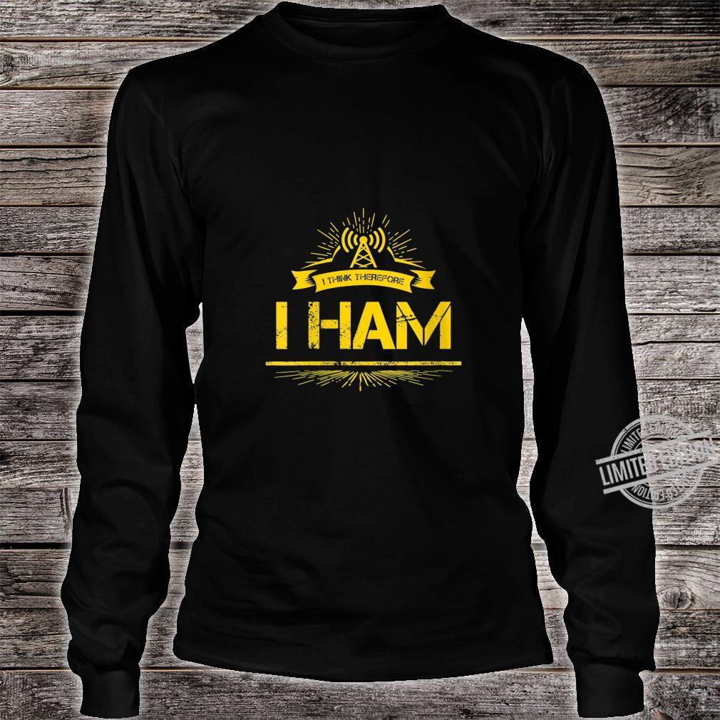 Womens Amateur Radio Pun Ham Operator Shirt long sleeved