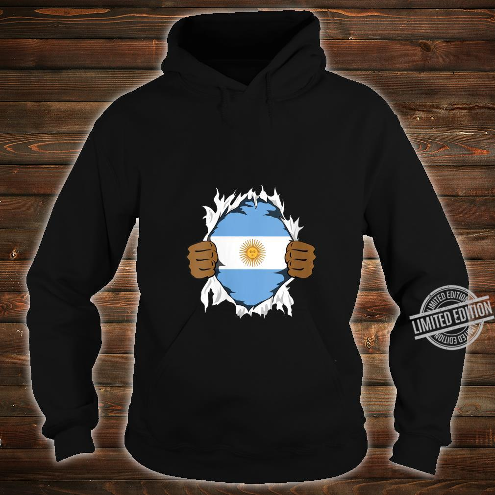Womens Argentina Blood Inside Me Flag Roots Heritage Argentine Shirt hoodie
