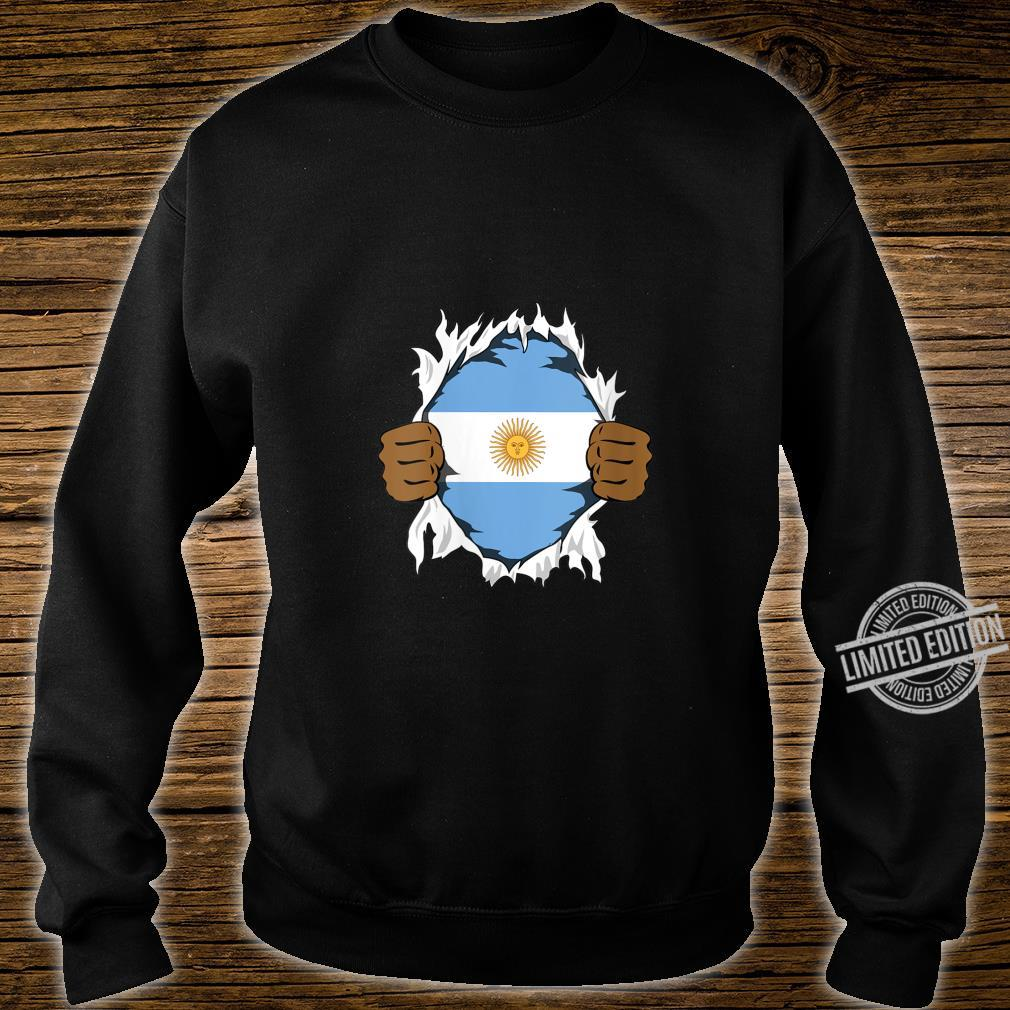 Womens Argentina Blood Inside Me Flag Roots Heritage Argentine Shirt sweater
