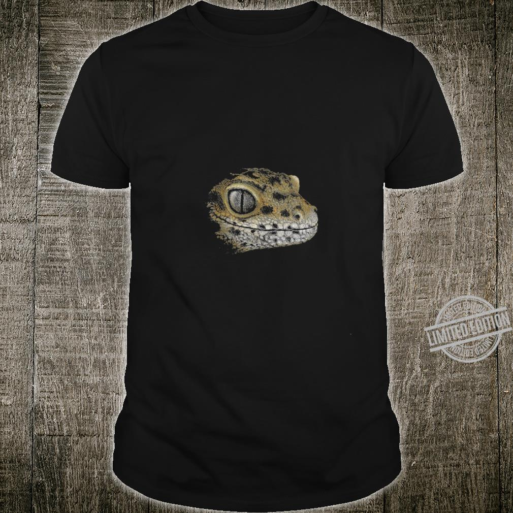 Womens Artsy Lizard Drawing Staring LeopardGecko Shirt