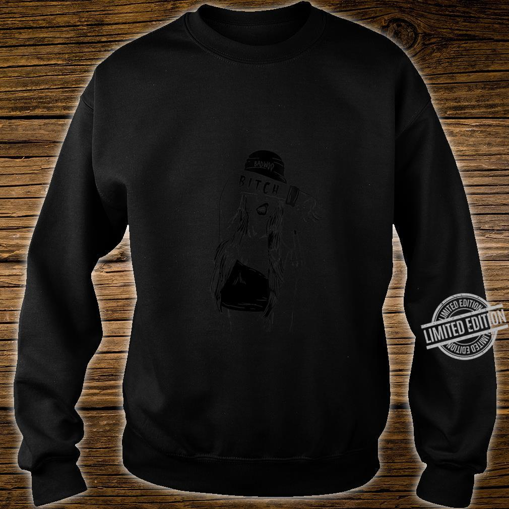 Womens Bad Girl Bitch Fuck You Sign Vulgar Offensive Shirt sweater