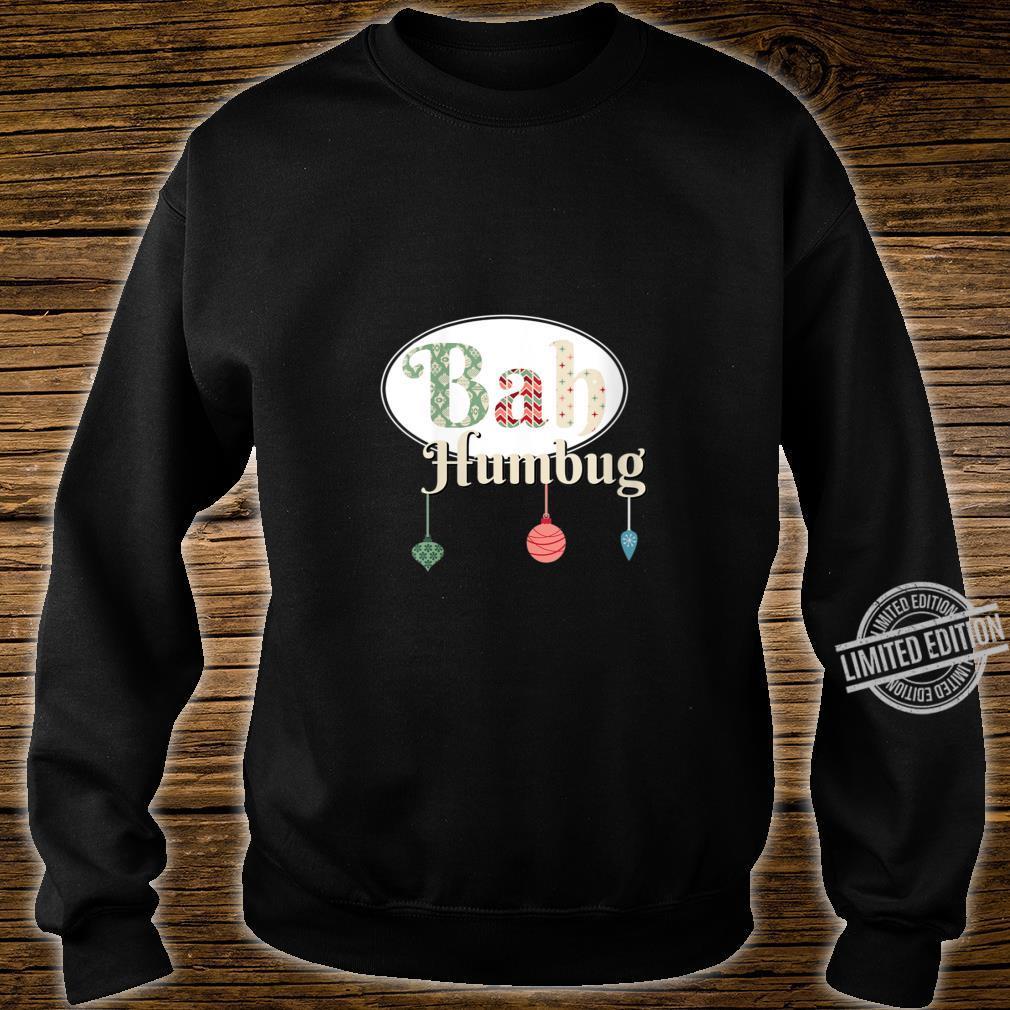 Womens Bah Humbug XMas Tree Ornaments Mod Look Shirt sweater