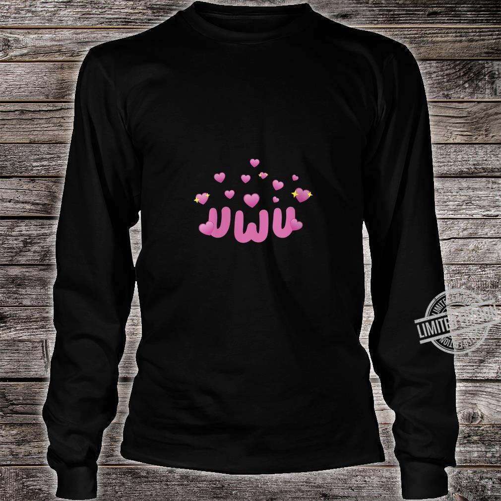 Womens Big UWU Energy Meme Memes Soft Kawaii Aesthetic Shirt long sleeved