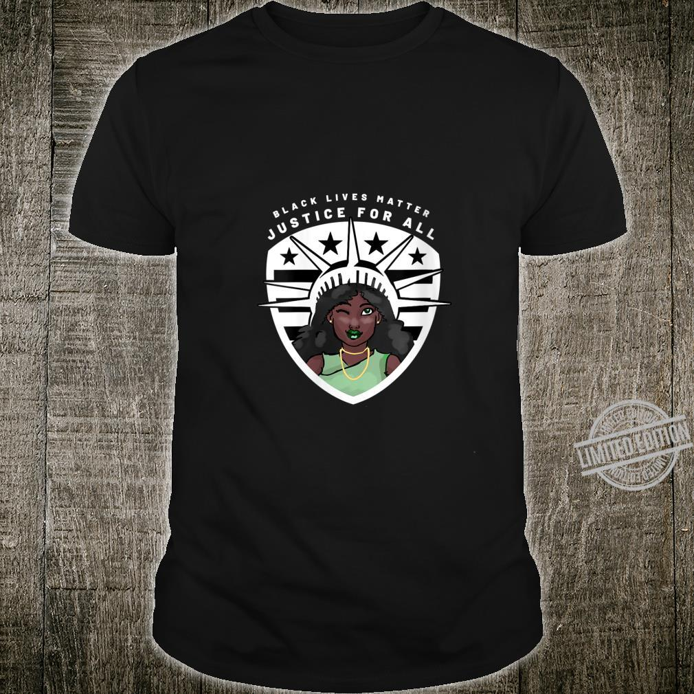 Womens Black Lives Matter Peace Love Power and Equality For All Shirt