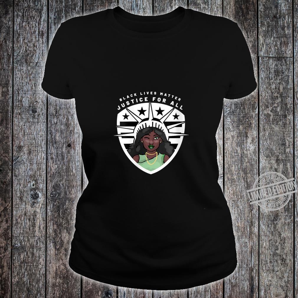 Womens Black Lives Matter Peace Love Power and Equality For All Shirt ladies tee