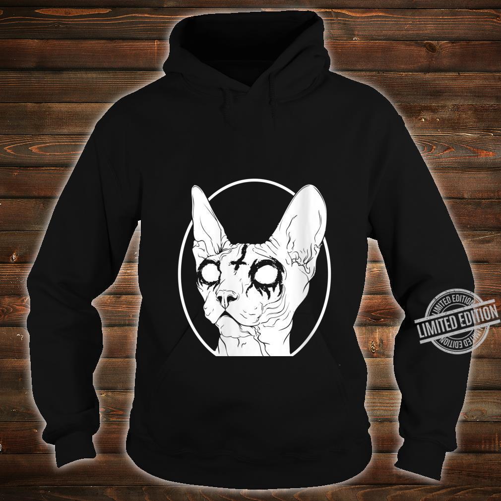 Womens Black Metal Sphynx Cat Pastel Goth and Death Metal Shirt hoodie