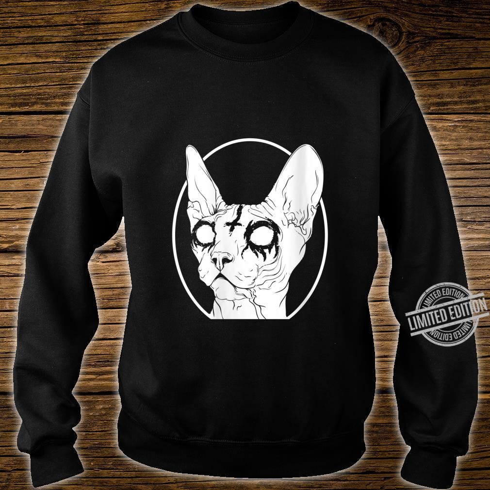 Womens Black Metal Sphynx Cat Pastel Goth and Death Metal Shirt sweater