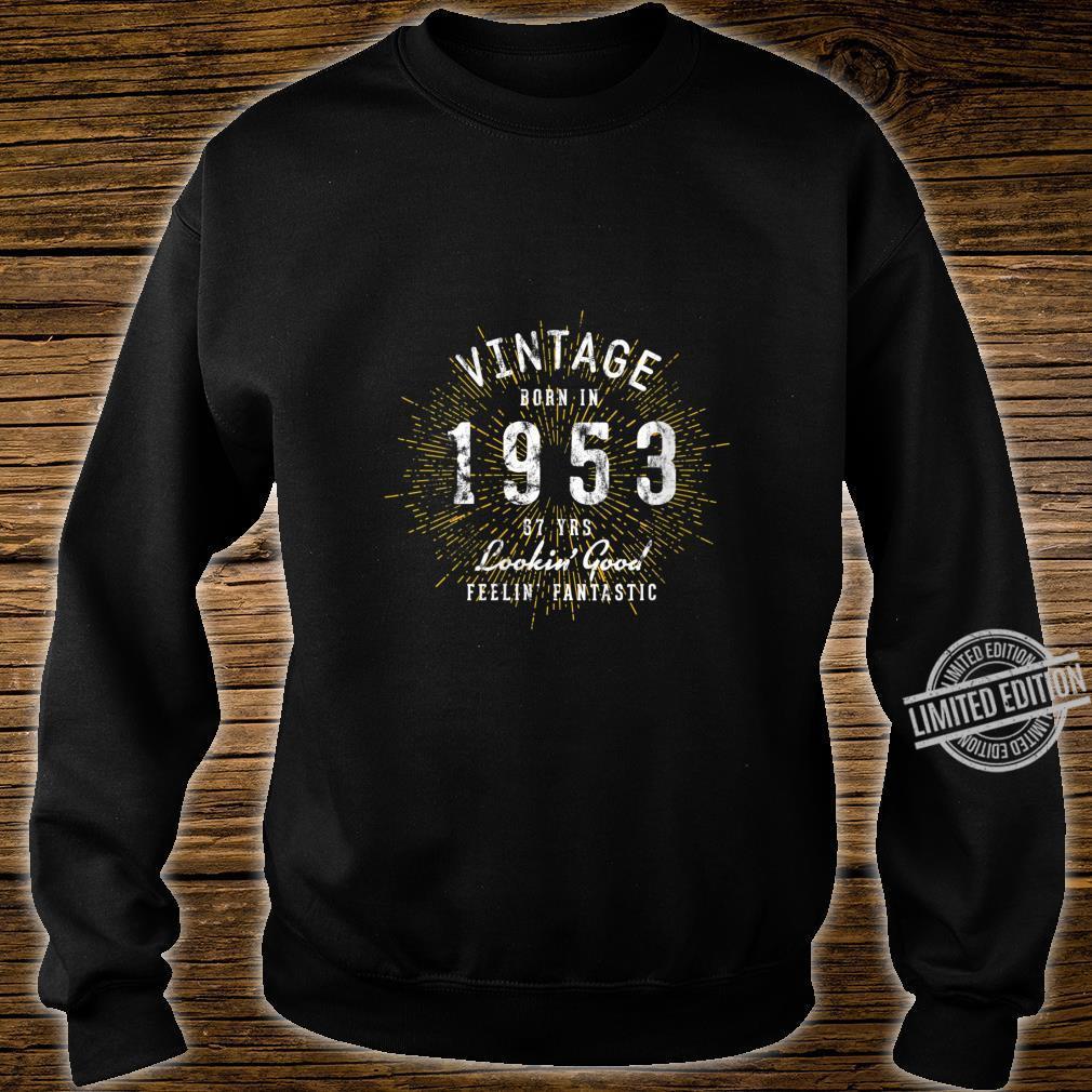 Womens Born in 1953 67th Birthday Shirt sweater