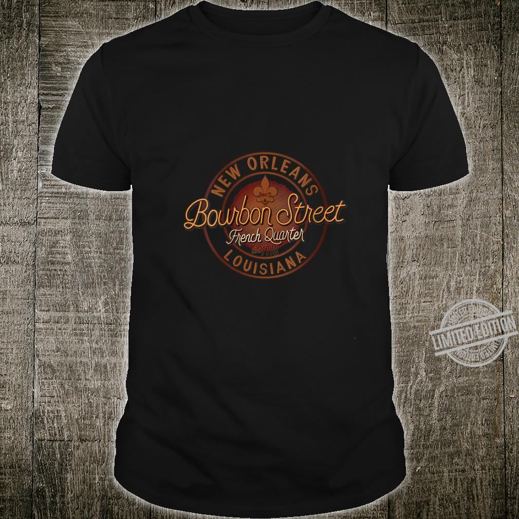 Womens Bourbon Street French Quarter New Orleans Souvenir Shirt